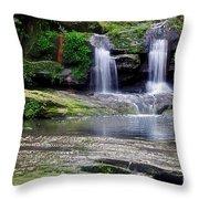 Pretty Waterfalls In Rainforest Throw Pillow