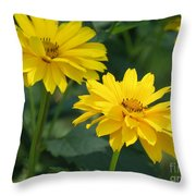 Pretty Yellow False Sunflowers In Bloom Throw Pillow