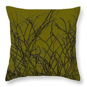 Prickly Branches Throw Pillow