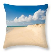Prickly Pear Beach Throw Pillow
