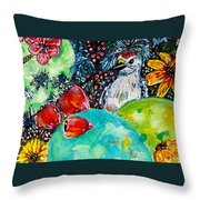 Prickly Pear Cactus Study II Throw Pillow