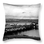 Priddy's Hard Jetty Throw Pillow
