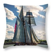 Pride Of  Baltimore 1 Throw Pillow
