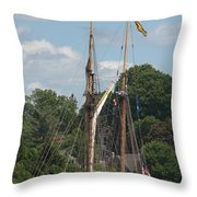 Pride Of Baltimore II At Dock Throw Pillow