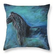 Pride Of Friesians Throw Pillow