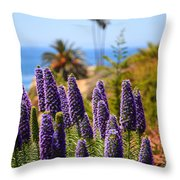 Pride Of Madeira Flowers In Orange County California Throw Pillow by Paul Velgos