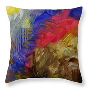 Primarily Abstract Throw Pillow