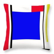 Primary Abstract Motivational Throw Pillow