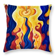 Primary Fire Throw Pillow