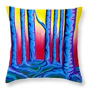 Primary Forest One Throw Pillow