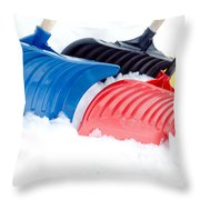 Primary Shovels Throw Pillow