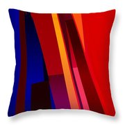 Primary Skyscrappers Throw Pillow