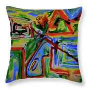 Primary Study I The Map Throw Pillow