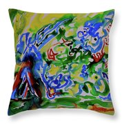 Primary Study II Finding The Way Throw Pillow