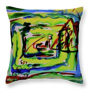 Primary Study IIi Into The Light Throw Pillow