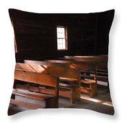 Primitive Church Throw Pillow