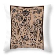 Primitive Crucifixion Throw Pillow