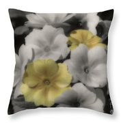 Primrose Flowers Throw Pillow