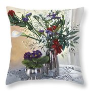 Primule Throw Pillow