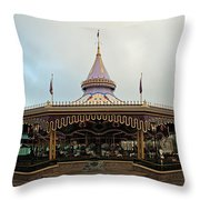 Prince Charmings Regal Carousel Throw Pillow