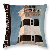 Prince Edward Island Lighthouse Throw Pillow