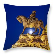 Prince Eugene Of Savoy Statue At Night Throw Pillow