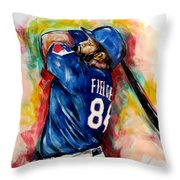 Prince Fielder Throw Pillow