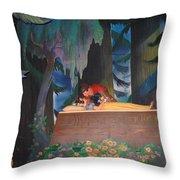 Prince Kisses Snow White Throw Pillow