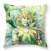 Prince Of Flowers Throw Pillow