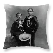 Princes Amedeo And Aimone Throw Pillow