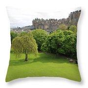 Princes Street Gardens 6480 Throw Pillow