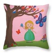 Princess Amma Belle Throw Pillow