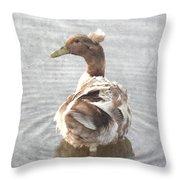 Princess Ducky Throw Pillow