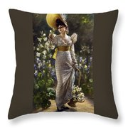 Princess Elvina Of Bavaria Throw Pillow
