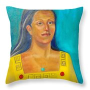 Princess Izta Throw Pillow by Lilibeth Andre