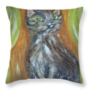 Princess Kitty Throw Pillow