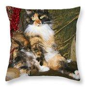 Princess Miss Gizzie By Diana Sainz Throw Pillow