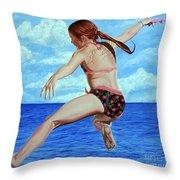 Princess Of The Ocean - Princesa Del Oceano Throw Pillow
