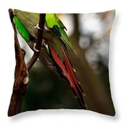 Princess Parrot On A Tree. Throw Pillow
