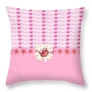Princess Pink Crowns Throw Pillow by Debra  Miller