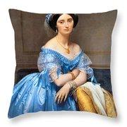 Princesse Albert De Broglie Nee Josephine Eleonare Marie Pauline De Galard De Brassac De Bearn Throw Pillow