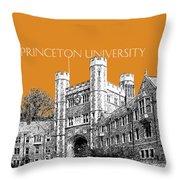 Princeton University - Dark Orange Throw Pillow