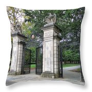 Princeton University Main Gate Throw Pillow