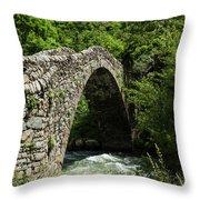 Principality Of Andorra. Pont De La Throw Pillow