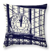 Principe Pio Clock Throw Pillow by Joan Carroll