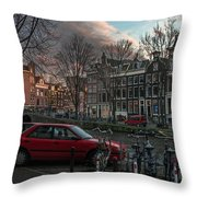Prinsengracht 791. Amsterdam. Throw Pillow