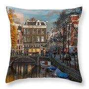Prinsengracht 807. Amsterdam Throw Pillow