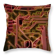 Printed Circuit - Motherboard Throw Pillow
