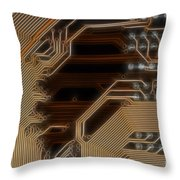 Printed Curcuit Throw Pillow