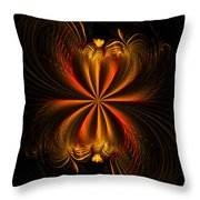 Printemps Papillon - Abstract Expressionism Throw Pillow
